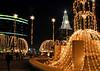 Christmas lights on Constitution Plaza, Hartford
