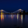 Cable Bridge in Kennewick at Night