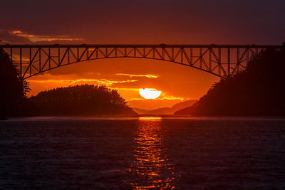 Deception Pass Bridge Sunset