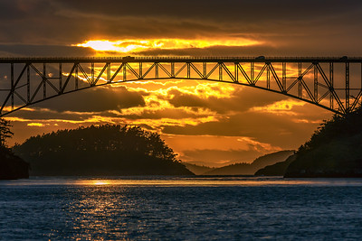 Deception Pass Golden Sunset