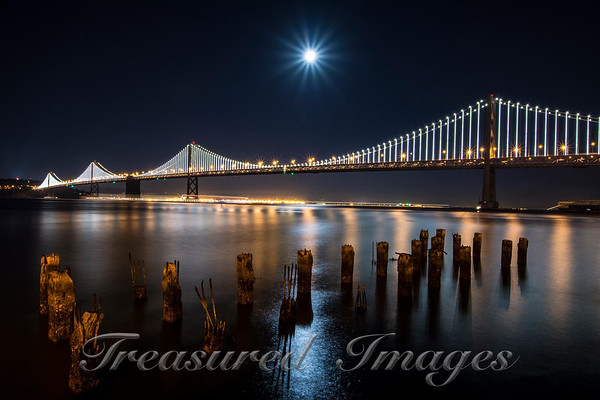 Bay Bridge Moon