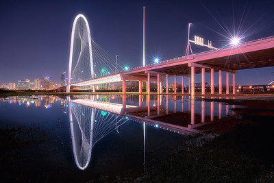 The Dallas neo-icon, Margaret Hunt Hill Bridge aka Big Marge in all her flooded glory.