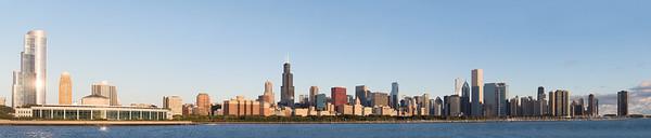 Morning Chicago Skyline