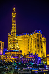 """Paris Hotel at Night,"" Las Vegas, Nevada"