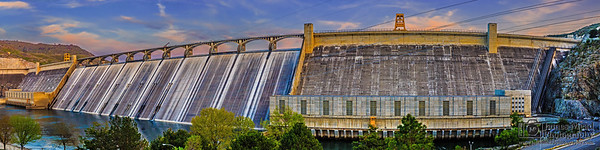 """""""Columbia's Hold,"""" Grand Coulee Dam at Sunset, Coulee Dam, Washington"""