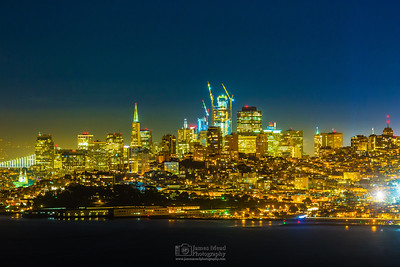 """San Francisco Skyline at Night,"" San Francisco, California"