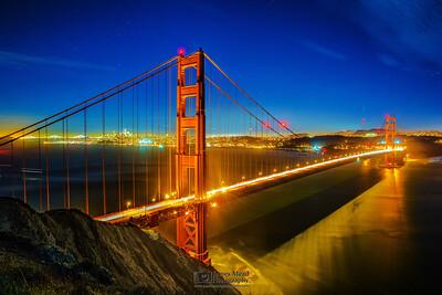"""Golden Gate Skyline,"" Battery Spencer, Golden Gate Bridge, Marin Headlands, San Francisco, California"