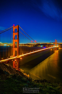 """Golden Gate Nightfall,"" Battery Spencer, Golden Gate Bridge, Marin Headlands, San Francisco, California"