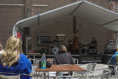Mike Downes Trio on stage, Distillery Jazz Festival 2005