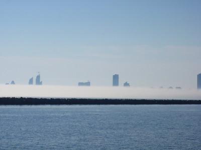 Fog Wall on Lake Ontario