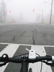 A Foggy Ride, First Day of Spring 2012
