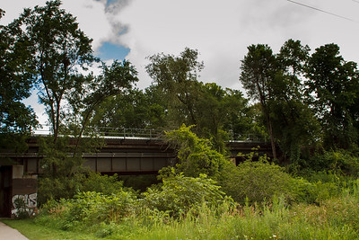 Railroad Bridge In Tom Riley Park