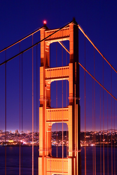 Golden Gate Bridge at Twilight - San Francisco, California