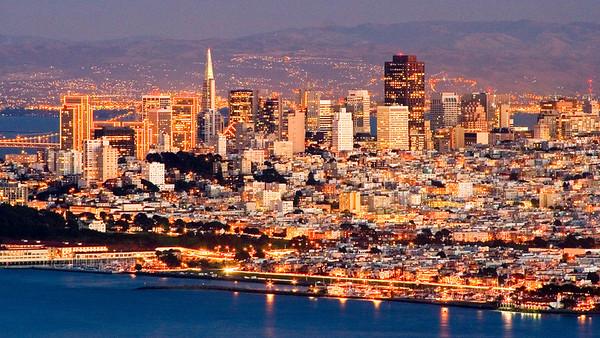 Downtown San Francisco at Twilight - San Francisco, California