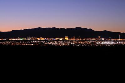 Panorma Of Las Vegas Lights