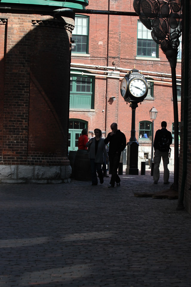 March 25/12 - Distillery District (shot using Canon 70-300 lens)