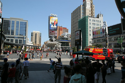 Yonge-Dundas Square on a Saturday Afternoon