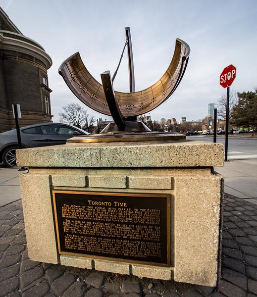 """""""Toronto Time"""" Sundial"""