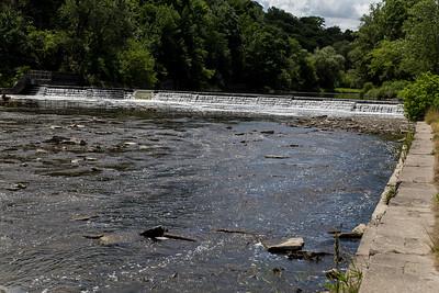 Humber River Waterfall Near Old Mill Bridge