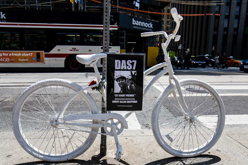 Darcy Allan Sheppard Bike Memorial Outside Old City Hall