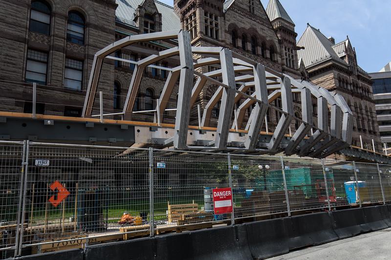 Building New Pedestrian Bridge