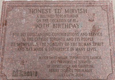 Honest Ed's Plaque In Sidewalk