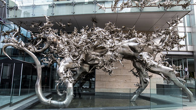 """Rising"" by Zhang Huan"