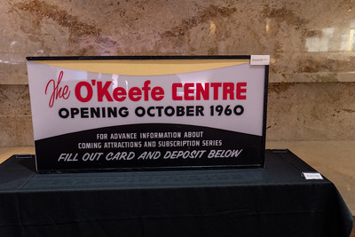 "Original ""O'Keefe Centre"" Sign in Foyer"