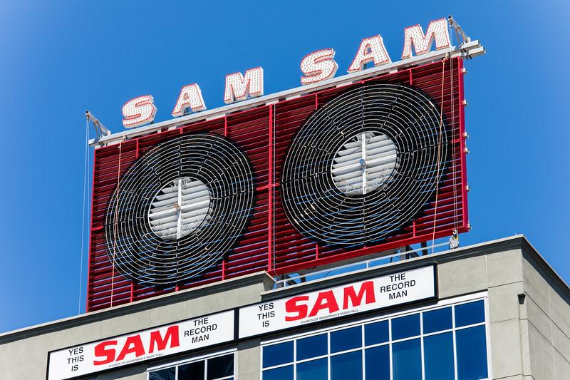 Sam The Record Man Sign