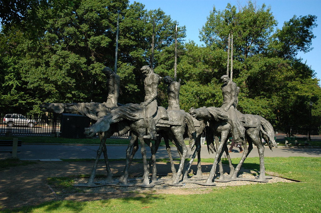 """Partisans"" by Andrew Pitynski.  This sculpture is no longer at Boston Common."