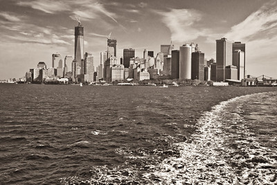 NYC Skyline from Stanton Island Ferry