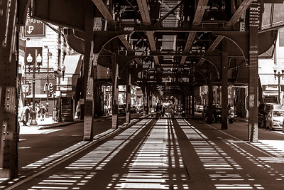 Under the EL in Chicago