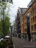 Multi-colored townhouses in Amsterdam