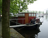 Amsterdam houseboat in the early morning