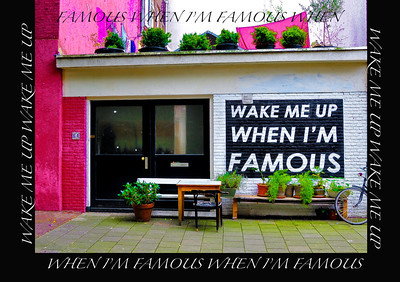 """When I'm Famous!"" Amsterdam, 2013."