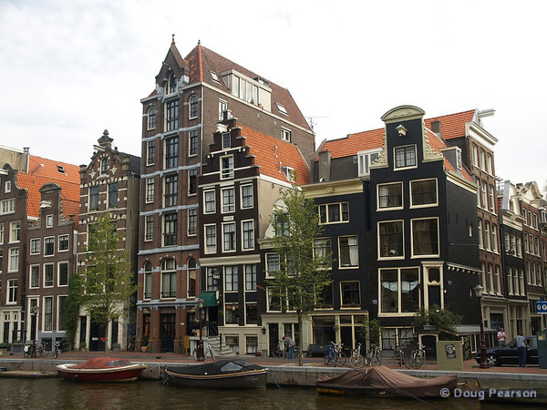 Townhouses line Amsterdam's canals