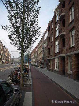 Early morning Amsterdam street scene