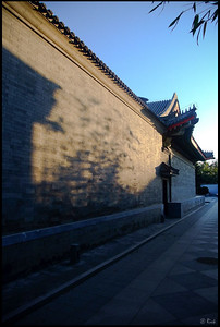 Sunrise and Shadows on the Wall  Aman Resort at Summer Palace, Beijing