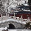 Beihai Park in Fresh Snow, Beijing, China