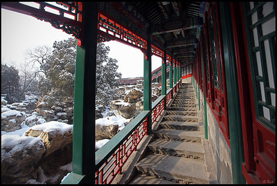 Beihai Park in Fresh Snow, Beijing, China