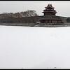 Panorama of Forbidden City in Snow, Beijing, China