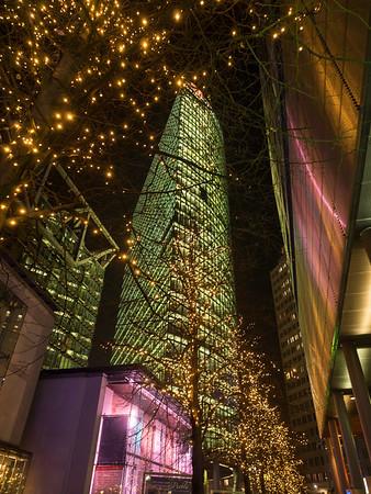 Sony Centre at night