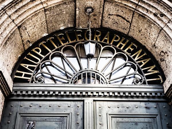 Old telegraph office door