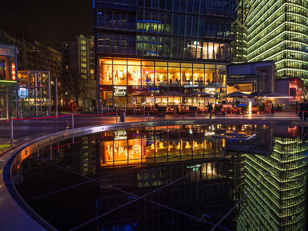 Night reflections at Sony Centre