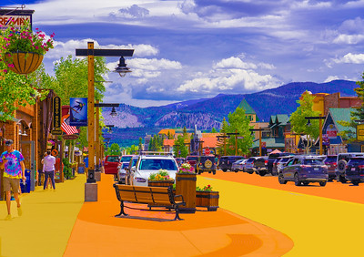 'Main Street Frisco,' Frisco, CO, 2019.
