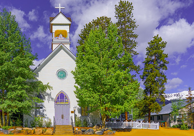 'St. Mary's Catholic Church,' Breckenridge, CO, 2019.
