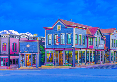 'Victorian Blue', downtown Breckenridge, CO, 2019.