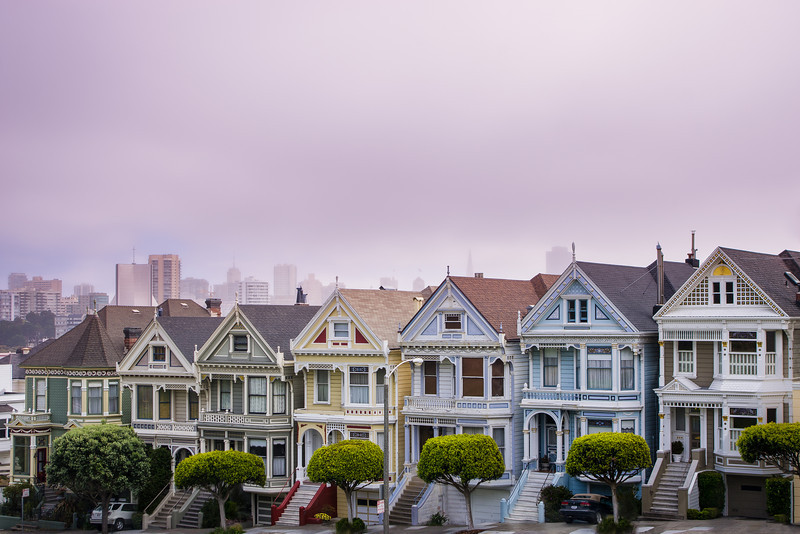 "<b>""The Painted Ladies""</b> San Francisco, California"