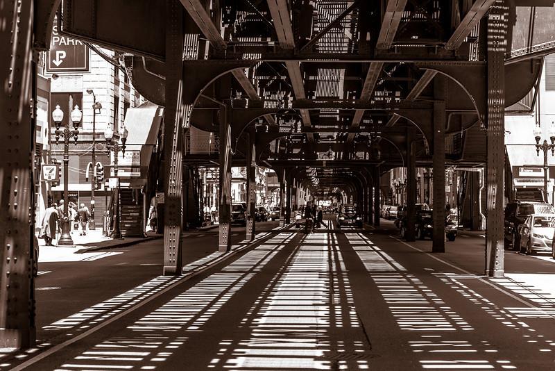 Under the EL in Chicago