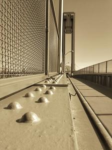 Ward's Island Walk Bridge - BW